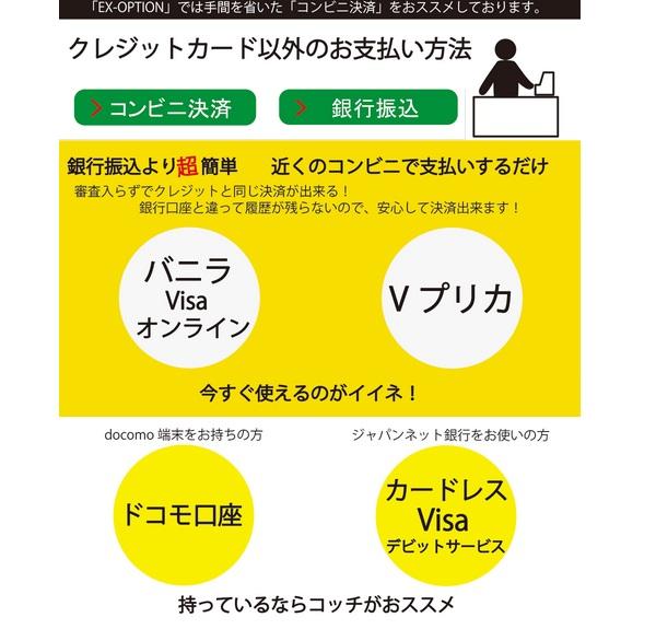 クレジットカード以外での入金方法の説明