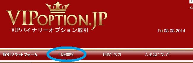 VIPオプションのトップページ