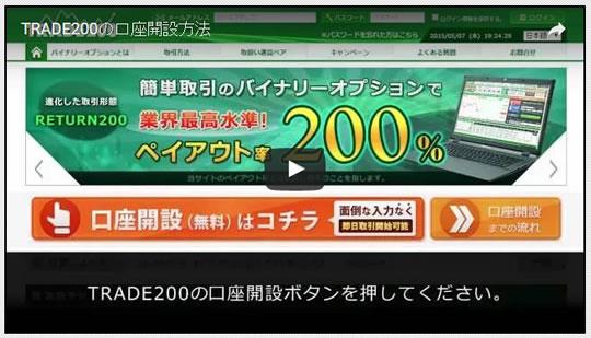 トレード200 口座開設 動画解説